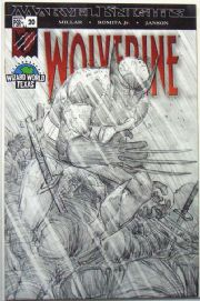 Wolverine #20 Wizard World Texas Incentive Sketch Variant Marvel comic book